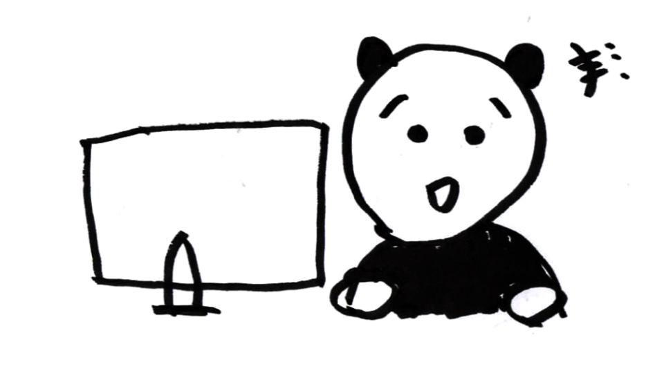 動画を楽しむパンダ
