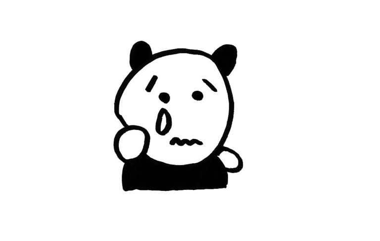 感動して泣いているパンダ